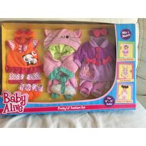 Roupa Para Boneca Baby Alive Caixa Com 3