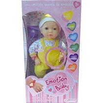 Boneca Iterativa Emotion Baby Roupa Amarela - Multikids