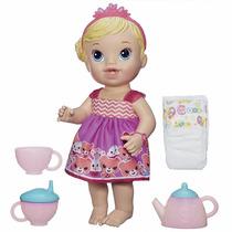 Boneca Bebê Alive Loira - Hora Do Chá - Hasbro A9288