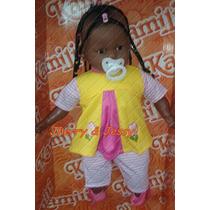 Boneca Bebê Tre-lê-lê Negra (51cm)