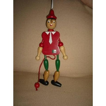 Boneco Do Pinóquio Antigo Marionete Madeira Brinquedo
