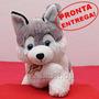 Husky Siberiano Pelúcia Antialérgica - Cachorro Macio E Fofo