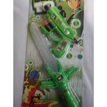 Espada Do Ben 10 C/ Som E Luz+ Pistola Brinquedo Atira Dardo