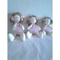Boneca Artesanal De Pano Bailarina Articulada Decoração-trio