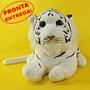 Pelúcia De Filhote De Tigre Branco 48cm - Antialérgico Lindo