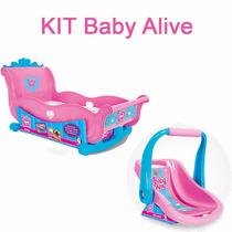Kit Bebê Conforto Baby Alive + Berço Baby Alive