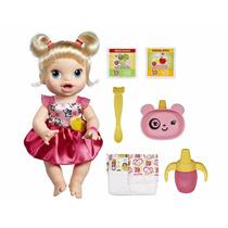 Boneca Baby Alive Loira Hora De Comer Hasbro Pronta Entrega