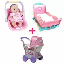 Carrinho Ninos + Berço Ninos + Bebê Conforto Frete Grátis
