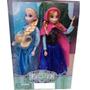 2 Bonecas Princesa Ana E Rainha Elsa Sucesso Disney Frozen