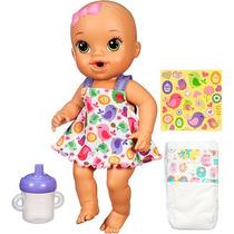 Boneca Baby Alive Hasbro Hora Do Xixi Morena - Roupa Branca