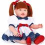 Dolls With Love Ruiva Vestido Lese Azul 2064 Cotiplás Addora
