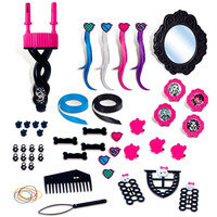 Brinquedo Menina Kit Básico Cabelo Monster High Hair Studio