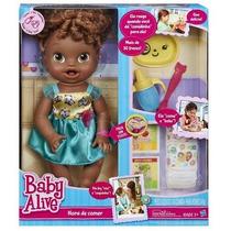 Boneca Baby Alive Hora De Comer Negra Original Hasbro