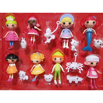 16 Personagens Mini Lalaloopsy 08 Bonecas E 08 Mini Pets