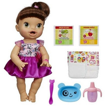 Boneca Baby Alive Hora De Comer Morena Original Hasbro