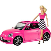 Boneca Barbie Real Barbie Carro Volkswagen Beetle Vehicle