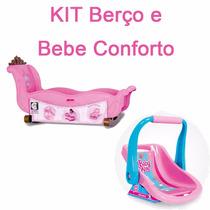 Kit Bercinho Cotiplás Mais Bebê Conforto Baby Alive Nova