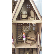 Casa Casinha De Boneca Mdf Polly 36 Móveis Frete Mais Barato