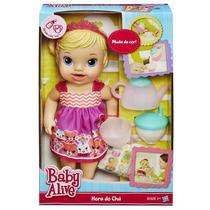 Baby Alive Chazinho Mágico Loira Hasbro Hora Do Chá