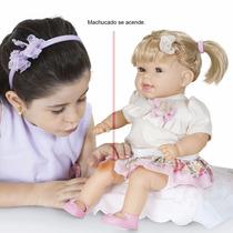Boneca Dodói 44cm - Machucado Acende Acompanha Curativos