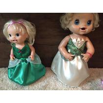 Roupa Para Baby Alive Princesa Tiana Ou Ariel Sereia