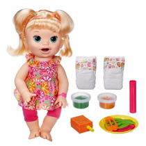 Baby Alive Comilona Loira C/ Acessórios Original - Hasbro