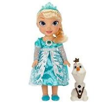 Boneca Eletrônica Frozen Elsa Neve Brilhante C/olaf