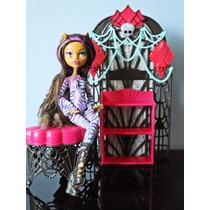 Lote Boneca Monster High Clawdeen Wolf Com Móveis Mattel