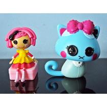 Mini Boneca Lalaloopsy E Gatinha Azul Pet Discovery Kids