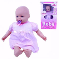 Brinquedo Boneca Bambola Chupeta 54cm