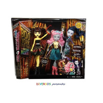 Monster High Boo York Pack Luna,mousceles E Elle - Original