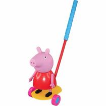 Boneca Peppa De Empurrar Carro Amarelo Lider Brinquedos