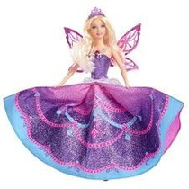 Barbie Butterfly E Princesas Fairy Lilás Mattel