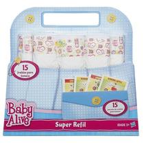 Baby Alive - Super Refil Novo C/ 15 Fraldas + 15 Comidinhas