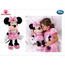 Disney Store Pelúcia Minnie Rosa Original No Brasil