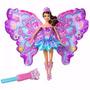 Boneca Barbie Fada Asas Mágicas Borboleta +acessórios Brinde
