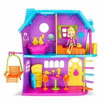 Polly Pocket Casa Da Polly Com Boneca E Acessórios - Mattel