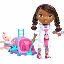 Boneca Doutora Brinquedo Com Kit De Checkup Doc Mcstuffins