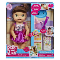 Boneca Baby Alive Morena Hora De Comer Original Hasbro