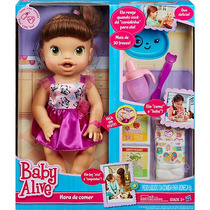 Boneca Baby Alive Hora De Comer Morena Fala Português Hasbro