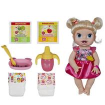 Baby Alive Hora De Comer Loira Hasbro Faz Xixi E Caquinha