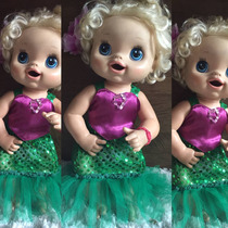 Roupa Baby Alive Pequena Sereia Ariel