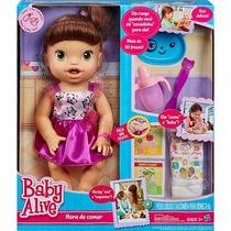 Boneca Baby Alive Morena Hora De Comer - Original Hasbro