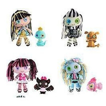 Conjunto Boneca De Pelúcia Monster High E Pet
