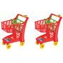 Kit 2 Carrinho Compras Market Vermelho - Magic Toys