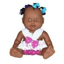 Boneca Milkinhas Petit Negra Com Chuquinhas - Milk Brinqu...