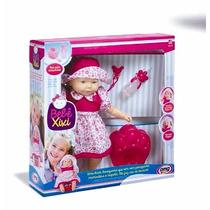 Boneca Bebê Faz Xixi De Verdade Grande 48cm C/ Acessórios