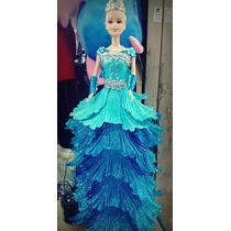 Boneca Cinderela Eva Vestido Brilhante Linda 32cm