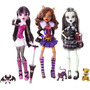 Monster High Draculaura Clawdeen Frankie Kit Com 03 Bonecas