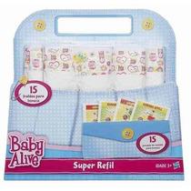 Super Refil De Fraldas E Comida Boneca Baby Alive Hasbro !!!
